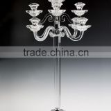 Cheap crystal glass candleholder for wedding decoration
