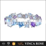 New design gemstone bracelet of different colors bracelet hand chain for girls                                                                                                         Supplier's Choice
