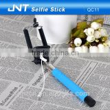 Travel Telescopic pipe monopod wired selfie stick with 6 months warranty OEM offered QC11