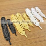 OB083 Wholesale Black yellow white Detail Hand Carved Leaf Bone beads