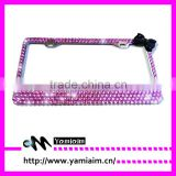 lovely girls license plate frame rhinestone license plate Bling Real Crystal Rhinestone License Plate Frame