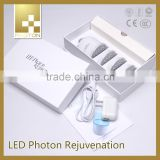 LED PDT Vibration photon light therapy blue light acne therapy skin care facial massager