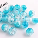 Turquoise Color Wholesales 6mm to 16mm Acrylic Crackle Beads for Little Girl Chunky Necklace jewelry