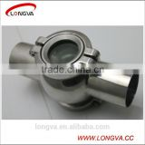 four way stainless steel welding flanged sight glass