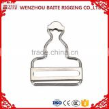 Hot sale Steel Nickel Plated Carabiner belt buckle in rigging hardware china manufacturer