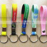 2015 new fashion silicon key chain with beads