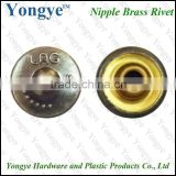 High quality custom metal brass rivets button for jeans jacket