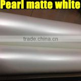 2014 Newest top quality matt white pearl vinyl sticker for car wrap size 1.52*20m