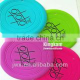 customized silicone frisbee with logo