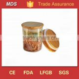 500ml wide mouth glass jars for honey with wood lid                                                                                                         Supplier's Choice