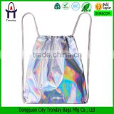 Fashion laser drawstring bag waterproof drawstring backpack bag                                                                         Quality Choice