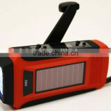 PORTABLE RECHARGEABLE DYNAMO SOLAR LED TORCH WITH AM/FM NOAA WEATHER ALERT RADIO AND CHARGER
