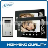 "Apartment Wired Video Door Phone Entry 6 Unit & 7"" TFT LCD Indoor Monitor & Video Intercom System XSL-V7C-520                                                                         Quality Choice"