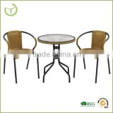 3pc Rattan bistro set-modern wicker patio set/home furniture/living room