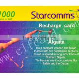 Nice ISO 7810 Standard Size scratch code cards