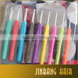 Multi Colour Set of 9pcs Soft Handle Aluminum Knitting Needle Crochet Hook For Crochet Hair On Net Wig Caps