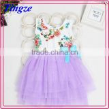 Fashion children summer new pretty frocks flower princess baby latest girl dress designs