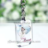 New design clearly color best seller factory directly sale cheap price crystal keychain with photo inside
