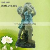 Polyresin boy and girl sculpture 3d models for garden decor.                                                                         Quality Choice