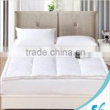 double layers goose duck feather down fill mattress pad bed topper