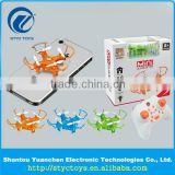2016 New smallest hand thrown 3D flips mini nano rc drone 2.4GHz 4 channels remote control quadcopter with light toys for kids