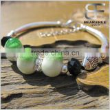 Hot selling 10mm Ceramic beads Adjustable Silver Bracelet in 6 colors wholesale for women girls ladies