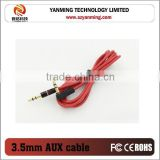 right angle 90 degree car audio aux 3.5mm cable with gold plated