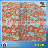 2014 Hot Sale Gold African Chemical Lace Fabric for Table Cloth