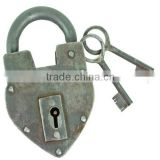 New Product Wholesale different heavy type Antique Reproduction Heart Padlock                                                                                                         Supplier's Choice