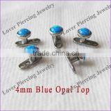 Wholesale High Polish With Opal Stone Gr23 Titanium Unique Dermal Anchor Piercing [OB-902]