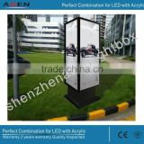 Light Box Displays Advertising Waterproof LED Aluminum Outdoor Lightbox Lockable Key Open Outdoor Lightbox