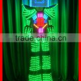 2015 New Design LED Stilt Walker Robot Costume, LED Stilt Walker Robot Suit, Tron Dance Robot Suit