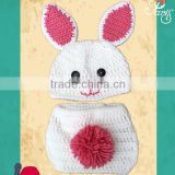 photography Crochet Bunny hat with diaper cover