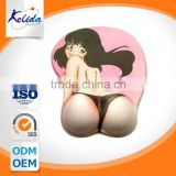 China supplier sexy beauty wrist rest mouse pad, sexy cartoon girl pu base mouse pad ,mouse pad hub