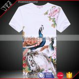 Custom silk screen printing men's fashion cotton tee shirts/tshirts Yingzhong garment