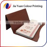 Cheap price high quality PU cover hot stamping table calendar printing