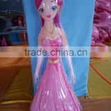 High quality and funny pvc inflatable toys for children, beautiful inflatable princess