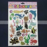 fish shape wall stickers, 3d foam sticker for kids