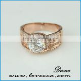 2015 new arrival !!! Sterling Stacking Ring Design Rose Gold Plated Cubic Zircon MicroPave Setting Combine Silver 925 Ring