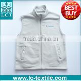 Best Buy custom embroidery good thickness promotional polar fleece vest with two pockets