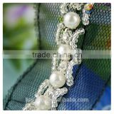 beautiful handmade best price sew on pearl trimming lace for garment