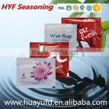 Customized air line and restaurant single disposable wet tissue
