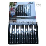 12pcs barbeque tool sets/bbq knif/bbq fork