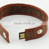 promotional bulk factory direct selling 2tb usb flash drive Brand Custom Leather Can be printed logo
