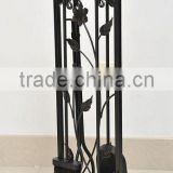 wrought iron 5 pcs hand forged Fireplace tool sets