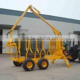 ZM1002 log trailer with crane 1t atv log loader