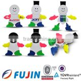 Little kid highlighters and brush/snowman marker/ multi colored highlighter pen/low price novelty highlighter