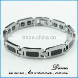 Gold and Silver tungsten H Style Link Bracelet for Men