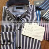 Latest shirt designs for man/Double Collar cuff shirt/ High Collar Shirts/Fashion Italian Design Stripes Shirts