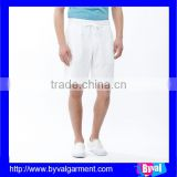 100%cotton soft white men's shorts basketball shorts running shorts